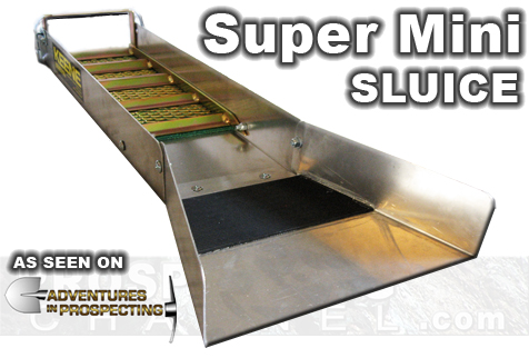 This is the lightest, most compact sluice box quality constructed by